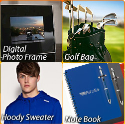 Sunny Promo - Coffee Cups, USB Driver, Golf Bag, Back Pack, Note Book, Hoody Sweater, Digital Photo Frame